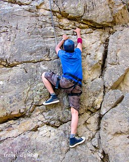 Rock climbing with certified experts