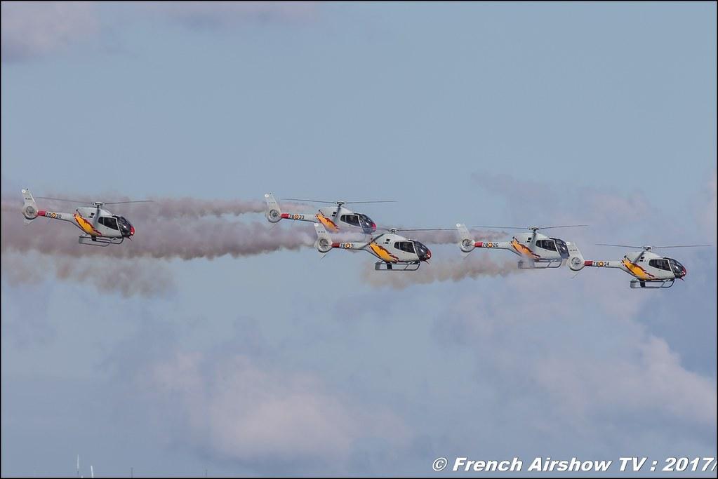Patrouille ASPA , EC-120 colibri , Patrulla Aspa Ejército del Aire Espanol , Meeting de l'Air BA-106 Bordeaux Merignac , meeting aerien 2017 , Airshow