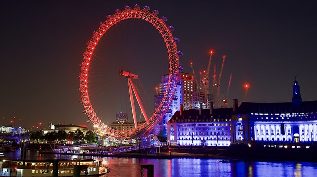 The colorful London eye