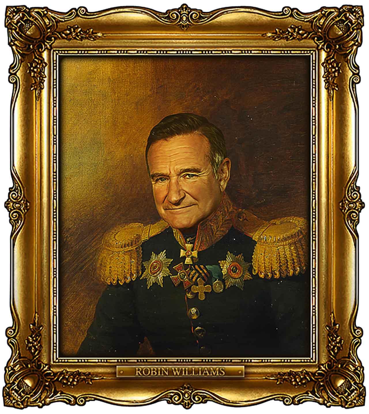 Artist Turns Famous Actors Into Russian Generals - Robin Williams