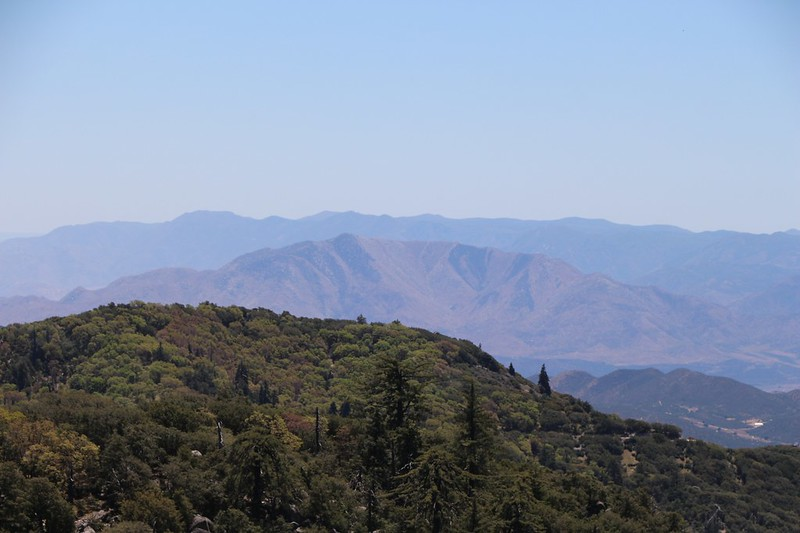 View to the south of Granite Mountain and the distant Laguna Mountains as we climb toward the summit