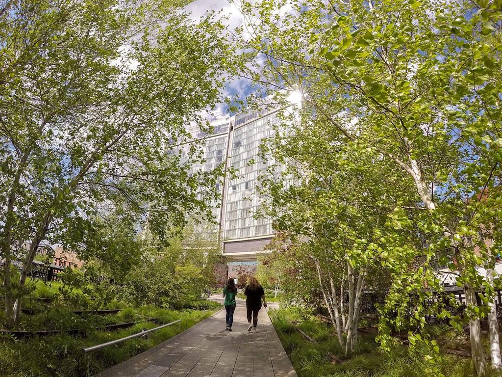 High Line Park in spring Standard Hotel