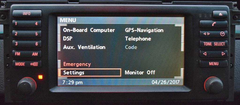 E38 / E39 16:9 Navigation