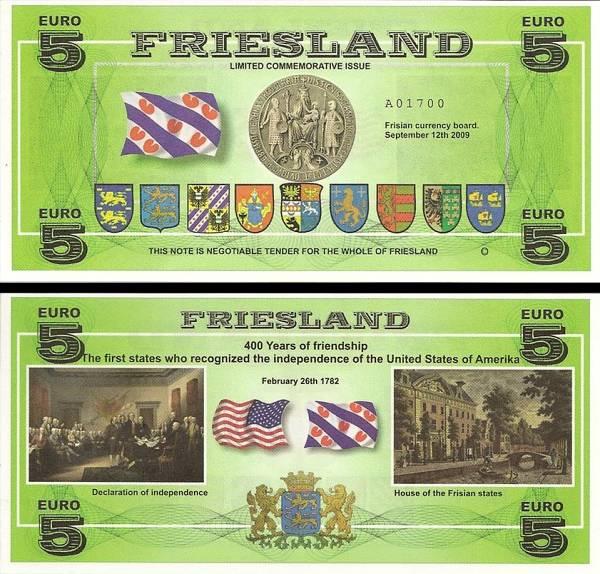 FRIESLAND (provincia Frízsko) 5 Euro 2009