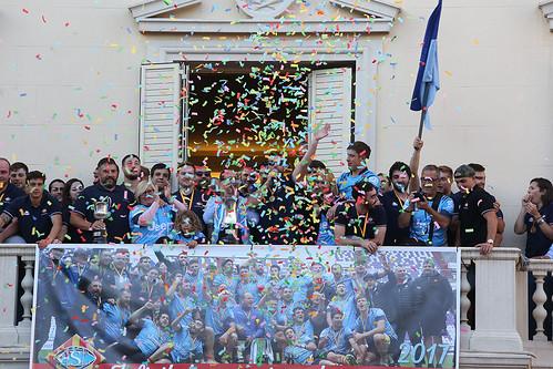 1-05-17 Celebració de la Copa del Rei de Rugbi U.E. Santboiana