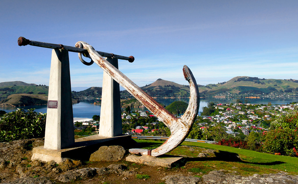 Port Chalmers Anchor. | d Historic anchor above Port Chalmer… | Flickr