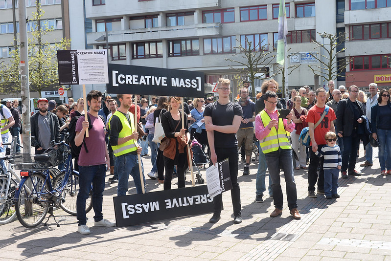 Creative Mass Demonstration in Oldenburg.