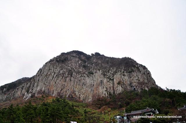 Sanbangsan Mountain Jeju Island