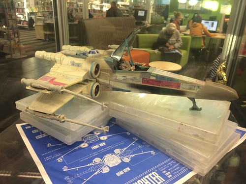 Star Wars display - X-wing fighter