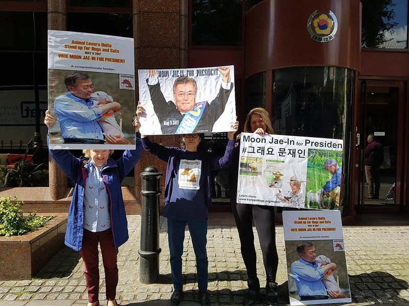 UK for Moon Jae-In and against the Dog Meat Cruelty