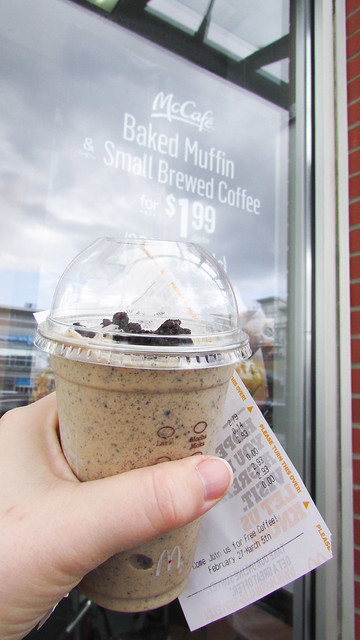 Product Review of McCafé's Oreo Cookie Coffee Frappuccino