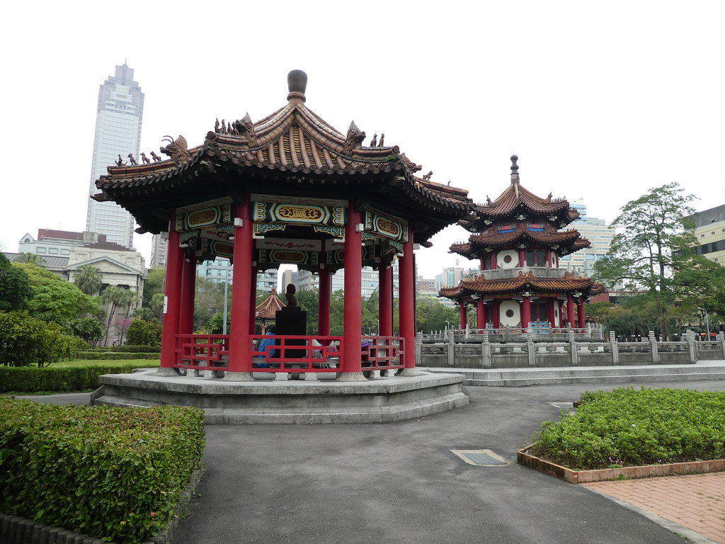 Pavilion and bandstand n the 2-28 Peace Memorial Park, Taipei