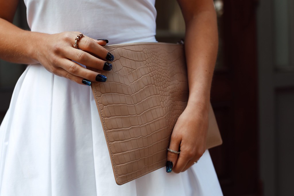 The Little Magpie Whistles Nude Clutch Bag
