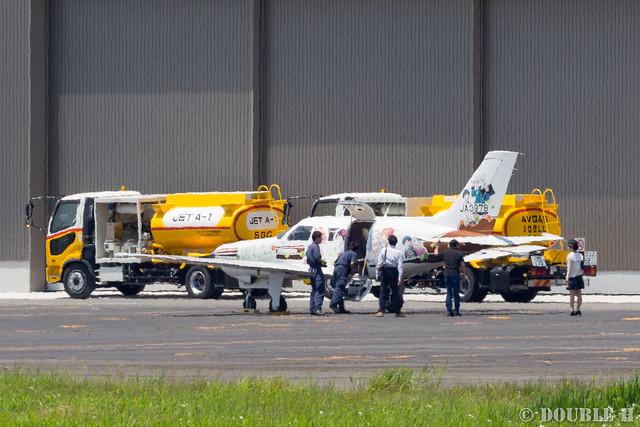 痛飛行機 - Anime charactor wrapped airplane at Yao Airport  (1)