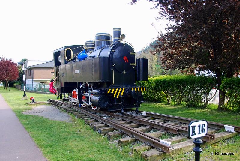"""Locomotora de vapor """"Reyerta"""", Puente Viesgo, Cantabria"""
