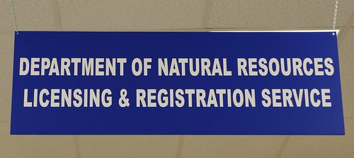 Photo of Department of Natural Resources sign at combined service center
