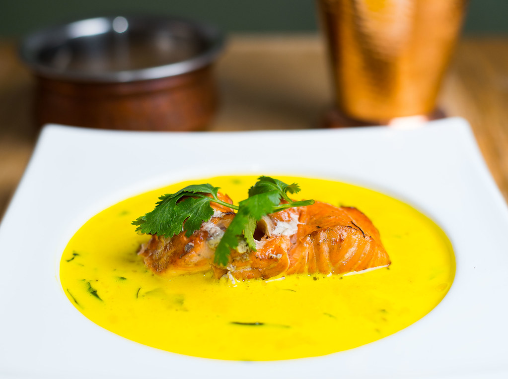 Chargrilled Atlantic Salmon Coconut Curry