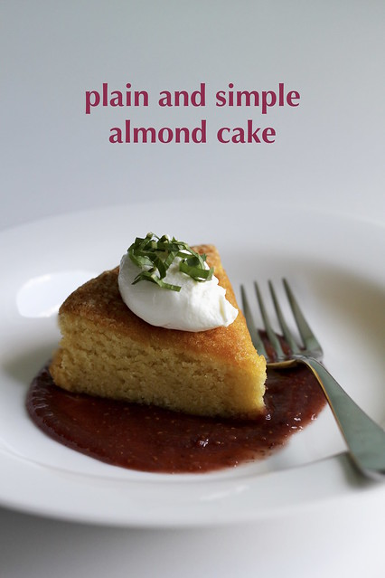 plain and simple almond cake
