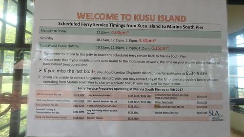 Signage at Kusu Island