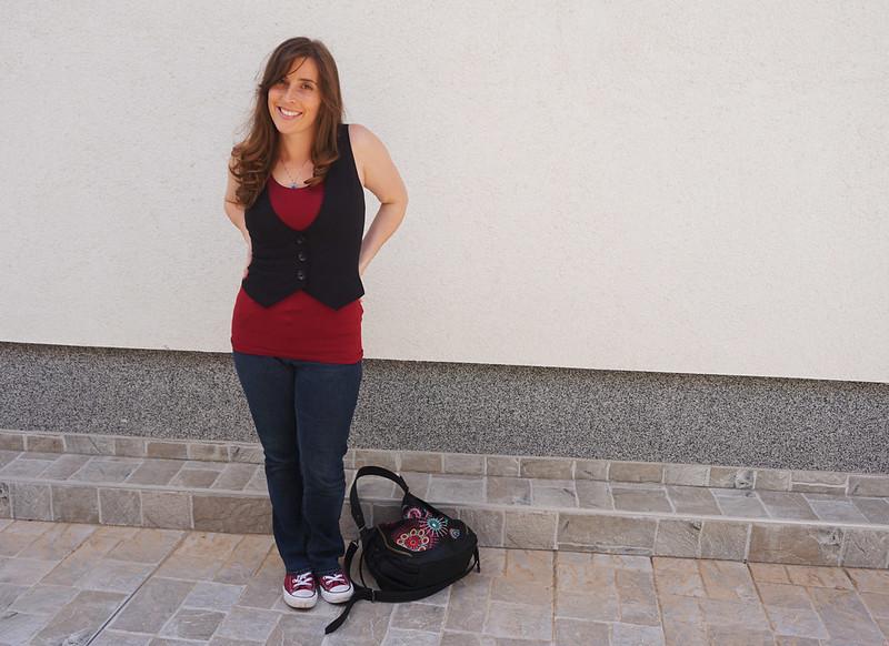 Gigi in red