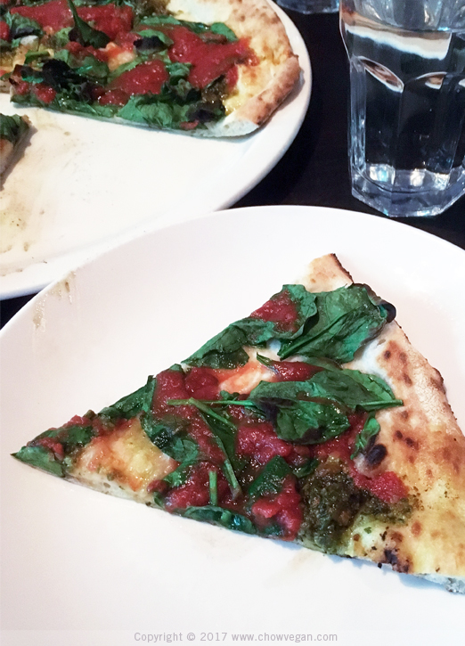 Vesta Redwood City Vegan Pesto Pizza Slice | Chow Vegan