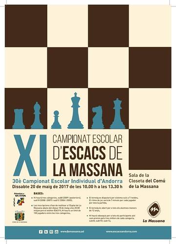 2017 Póster Campionat Escolar La Massana