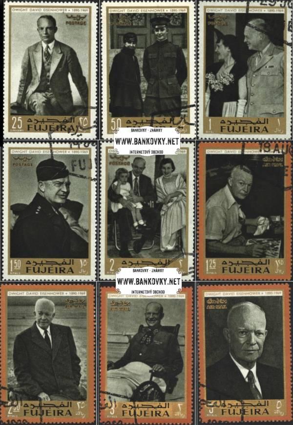 Známky Fujeira 1969 Dwight D. Eisenhower, razítkovaná séria