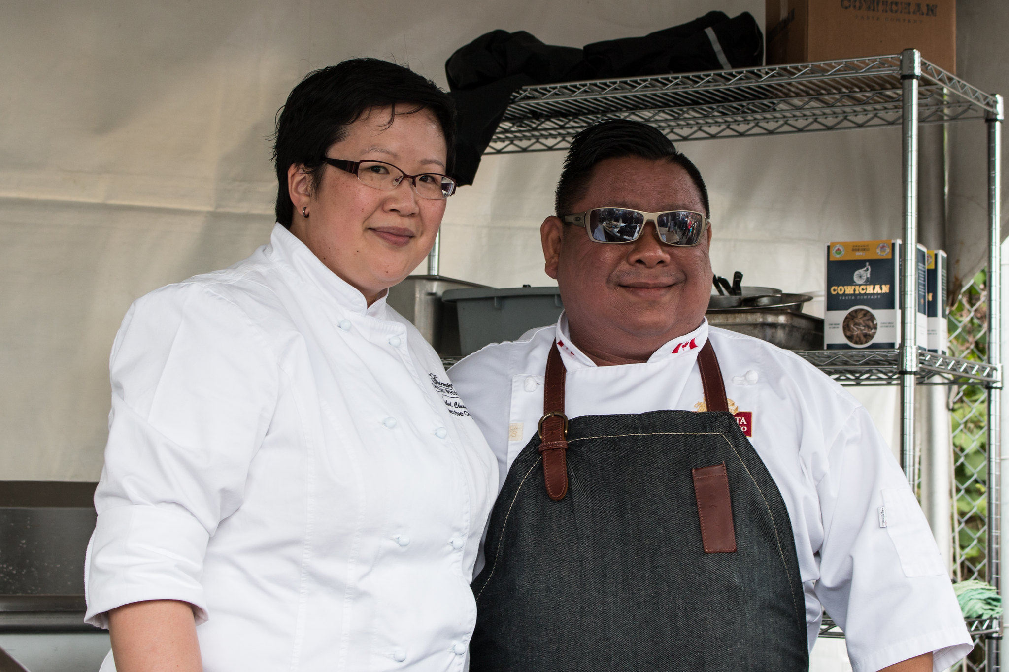 Chef Isabel Chung and Chef Alex Tung