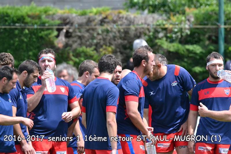 2016-2017 seniors 1 16ème Retour ST PAUL-MUGRON