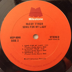 MCCOY TYNER:SONG FOR MY LADY(LABEL SIDE-B)