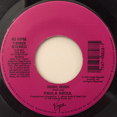 PAULA ABDUL:RUSH RUSH(LABEL SIDE-B)