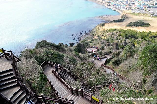 Stairs at the Seongsan Ilchulbong
