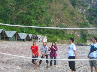 Give yourself a break and enjoy some volleyball time with your friends