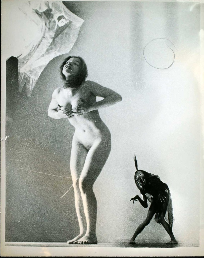 William Mortensen - Nude With Small Demon