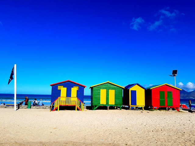 Muizenberg beach-side suburb of Cape Town, South Africa.