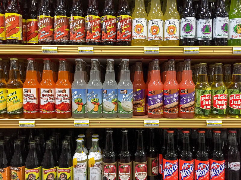 Weird soda flavors at Jungle Jim's