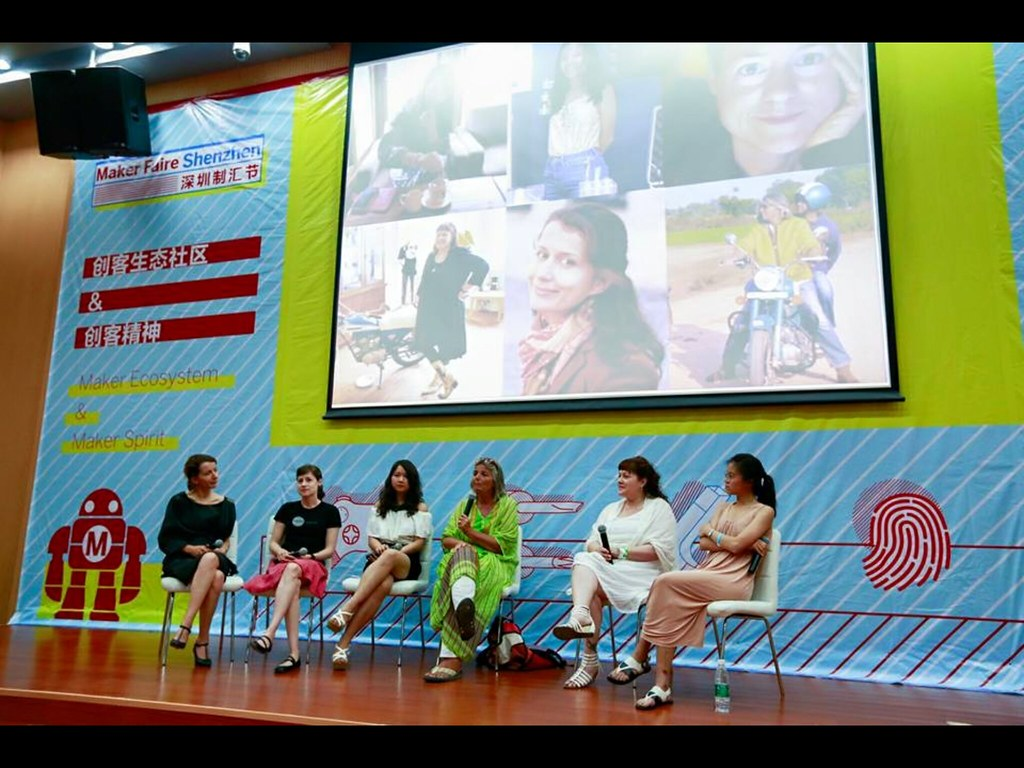 Women in Hardware panel at Makerfaire Shenzhen