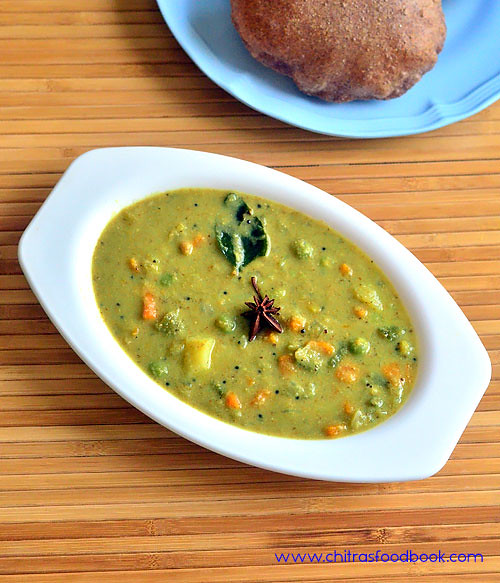 Vegetable sagu recipe - Karnataka style