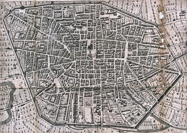 Agostino Carracci - Bologna - Bononia docet - Mater studiorum; Kupferstich, 1581