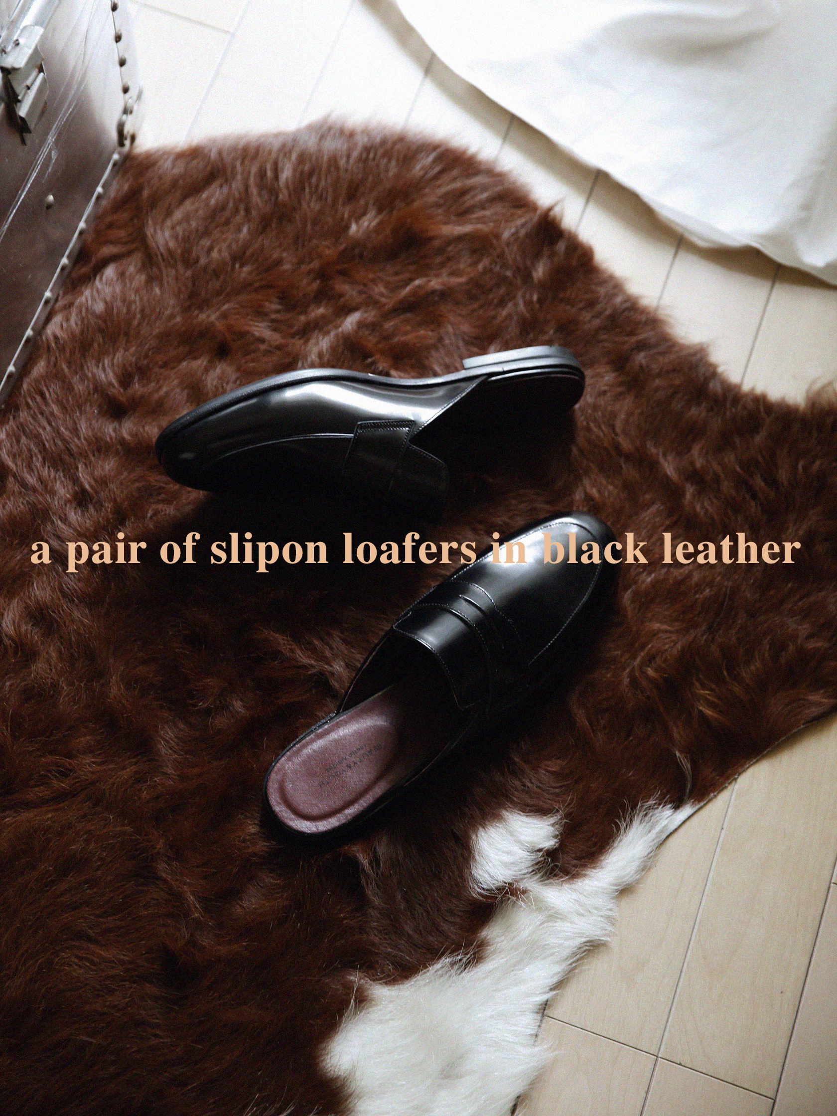 slipon loafers a with words