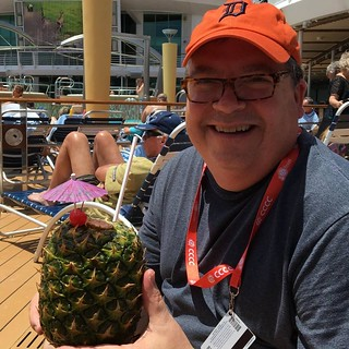 Steve With Novelty Pineapple Cocktail | by steven_d_krause