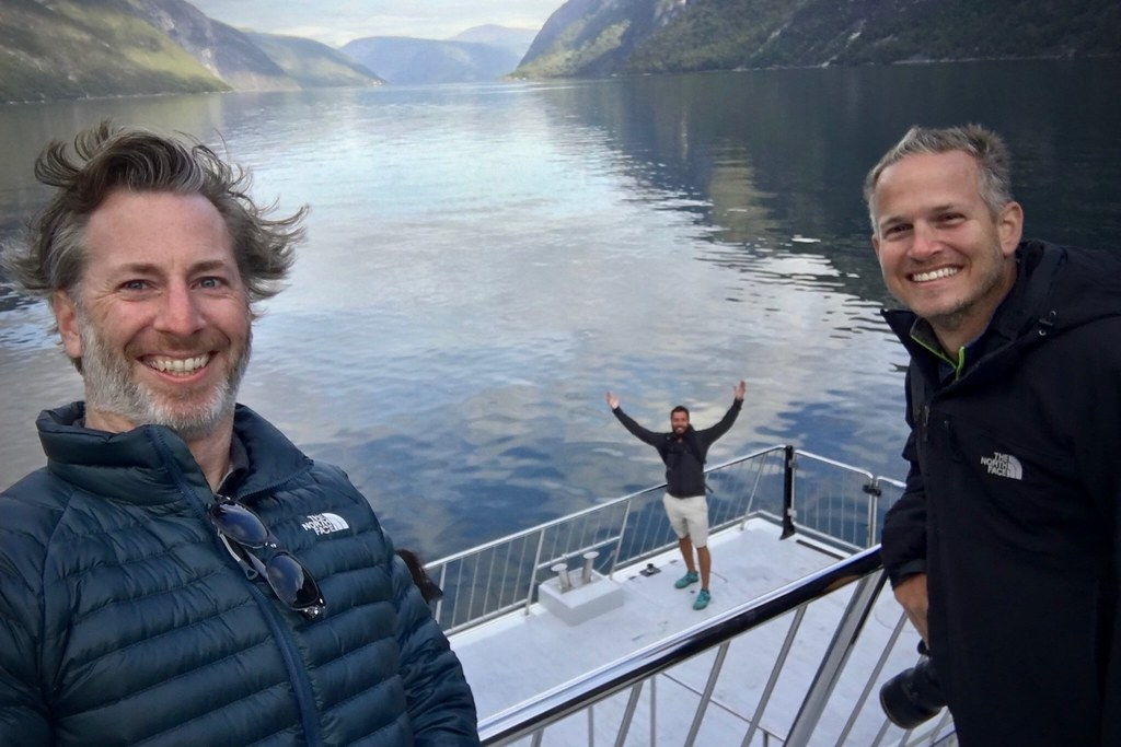 Boys on the Ferry in Aurlandsfjord