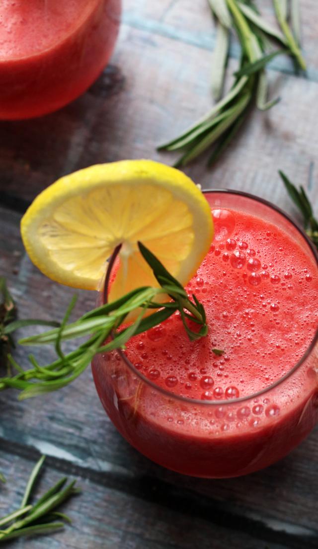 Boozy Rosemary Watermelon Lemonade