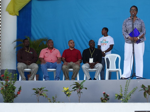 (L-R) Troy Smith, Valuation Manager, Belize City Council; Councilor Michael Theus, Ministry of Economic Development; Mayor Darrell Bradley, Belize City Council; Ralston Frazer, Deputy Mayor of Belmopan; Dr. Cassandra Rogers, Country Representative, Inter- | by caricomclimatechangecentre