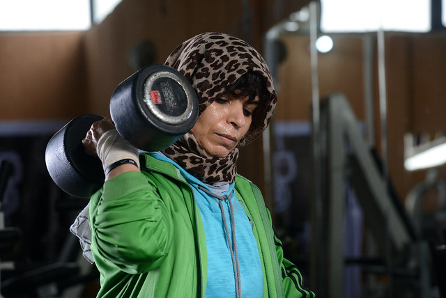 LIBYA-WOMEN/SPORTS-BODYBUILDING