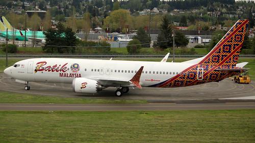 Boeing 737 MAX 8 Batik Air Malaysia LN6222