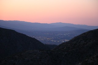 1073 The lights of the town of Desert Hot Springs appear as we ascend on the PCT out of Mission Creek | by _JFR_