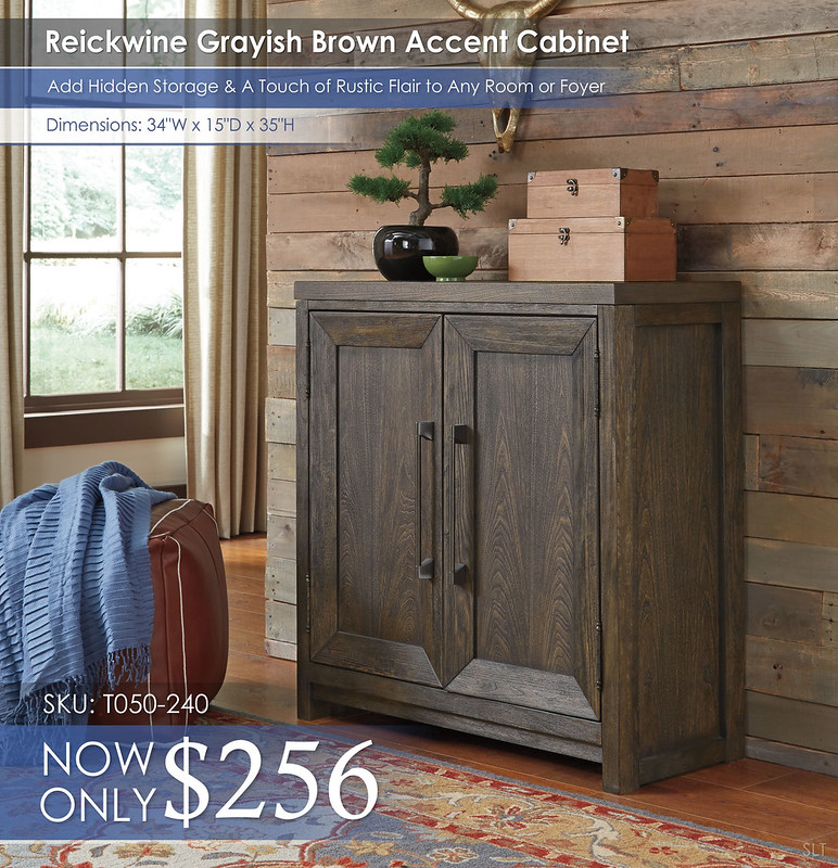 Reickwine Grayish Brown Accent Cabinet T050-240