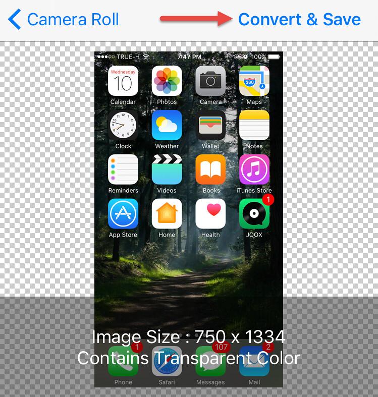แปลงไฟล์ภาพด้วย iPhone