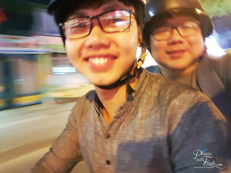 ho chi minh food on wheels selfie
